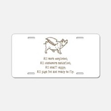 Pigs Ready to Fly Aluminum License Plate
