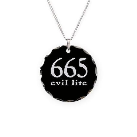 665 Evil Lite Necklace Circle Charm