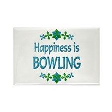 Happiness Bowling Rectangle Magnet