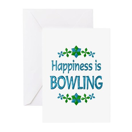 Happiness Bowling Greeting Cards (Pk of 10)