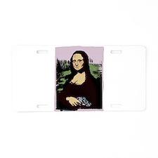 Mona Lisa with a Gun Aluminum License Plate