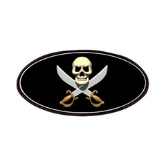Pirate Skull and Swords Patches