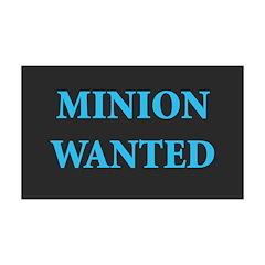 Minion Wanted 38.5 x 24.5 Wall Peel