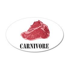 Carnivore 22x14 Oval Wall Peel