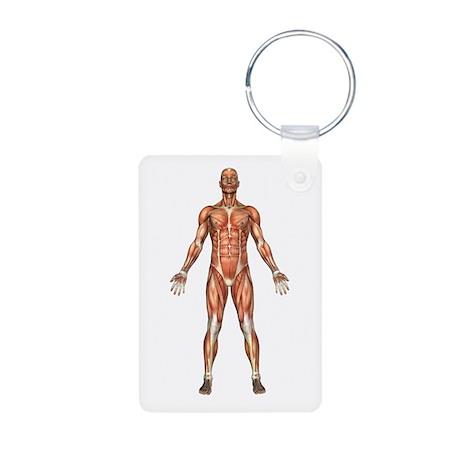 Visible Man Aluminum Photo Keychain