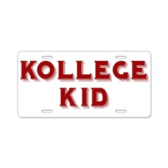 Kollege Kid Aluminum License Plate