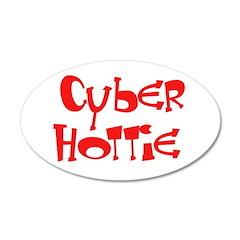 Cyber Hottie 38.5 x 24.5 Oval Wall Peel