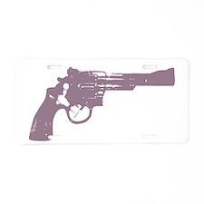 Revolver Aluminum License Plate