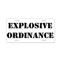 Explosive Ordinance Aluminum License Plate