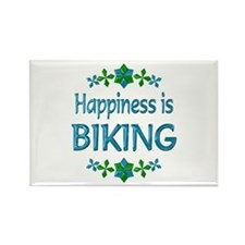 Happiness Biking Rectangle Magnet