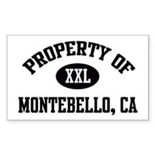 Property of Montebello Rectangle Decal
