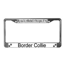 """Border Collie"" License Plate Frame"