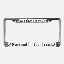 """Black and Tan Coonhound"" License Plate Frame"