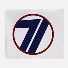 Cute 71st infantry division Throw Blanket