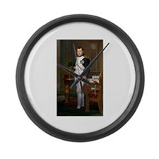 Napoleon in His Study Large Wall Clock