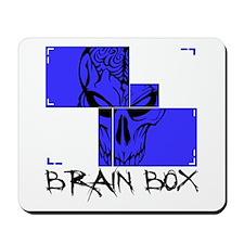 Brain Box(blue) Mousepad