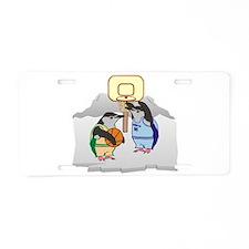 Penguin Basketball Aluminum License Plate