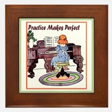 Practice Makes Perfect Framed Tile