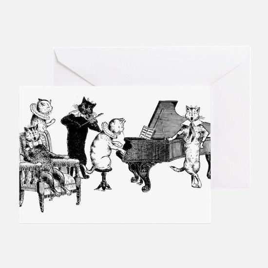 Cat Music Greeting Card