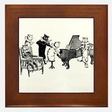 Cat Music Framed Tile