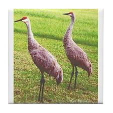 Sandhill Cranes Tile Coaster
