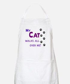 My Cat Walks All Over Me Shir Apron
