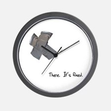 Duct Tape Fixes Everything Wall Clock