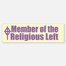 Religious Left Purple Bumper Bumper Bumper Sticker