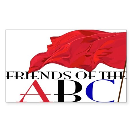 Friends of the ABC Sticker (Rectangle)