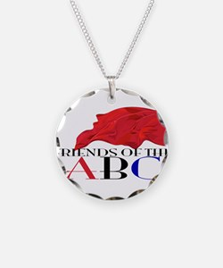 Friends of the ABC Necklace Circle Charm