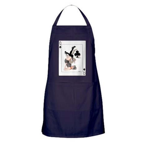 Queen of Clubs Pin-up Apron (dark)