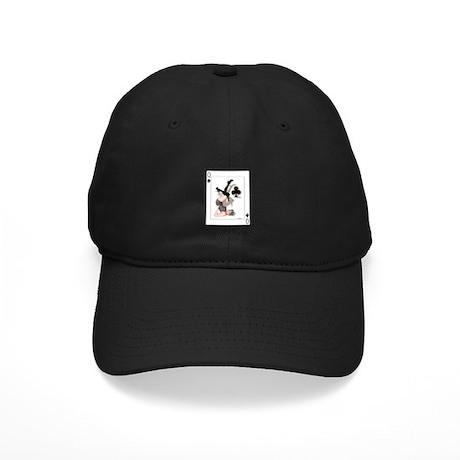 Queen of Clubs Pin-up Black Cap