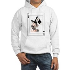 Queen of Clubs Pin-up Hoodie