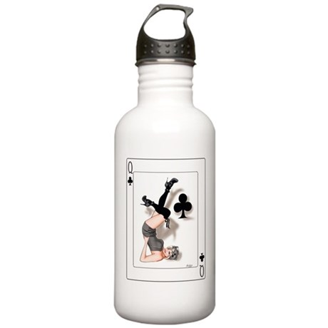 Queen of Clubs Pin-up Stainless Water Bottle 1.0L