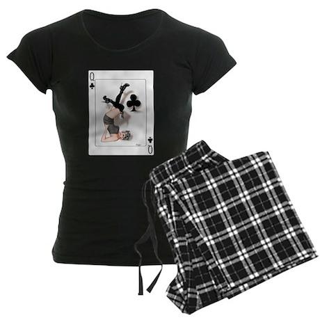 Queen of Clubs Pin-up Women's Dark Pajamas