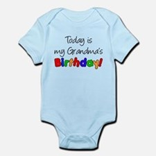 Today Is My Grandma's Birthda Infant Bodysuit