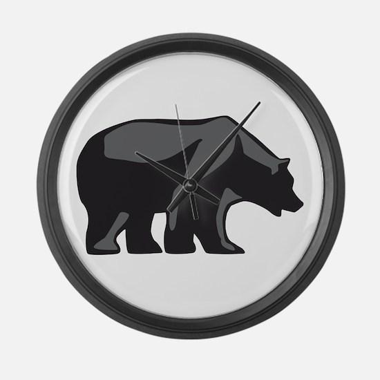 Cute California bears Large Wall Clock