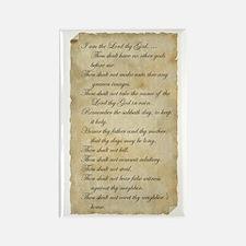 10 Commandments Rectangle Magnet (10 pack)