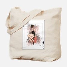 Queen of Spades Pin-Up Tote Bag