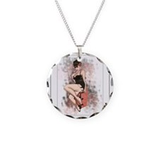 Queen of Spades Pin-Up Necklace