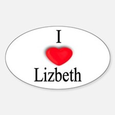 Lizbeth Oval Decal