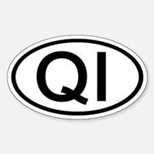QI - Initial Oval Oval Decal