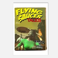 Flying Saucer Tales Fake Pulp Postcards (Package o