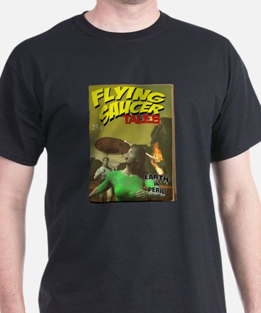 Flying Saucer Tales Fake Pulp T-Shirt