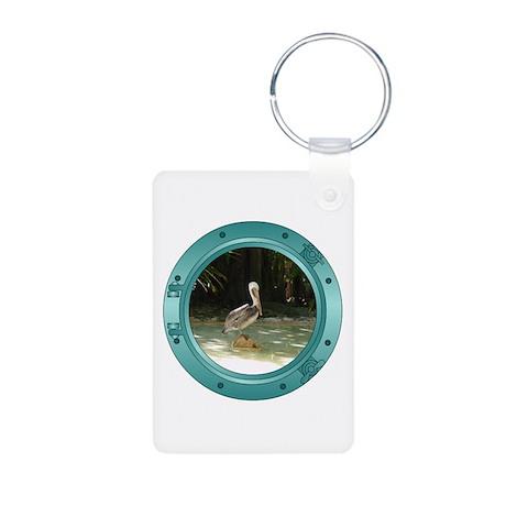 Pelican Porthole Aluminum Photo Keychain