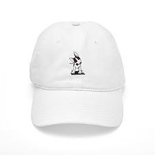 Black Masked Bull Terrier Baseball Cap