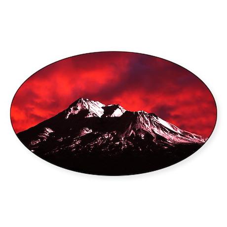 Shasta Red Cloud Sticker (Oval 10 pk)