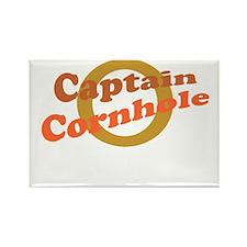 Captain Cornhole Rectangle Magnet