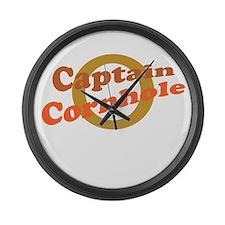Captain Cornhole Large Wall Clock
