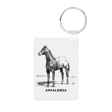 Appaloosa Aluminum Photo Keychain